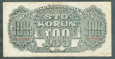 100 korun 1944 serie KA neperforovana