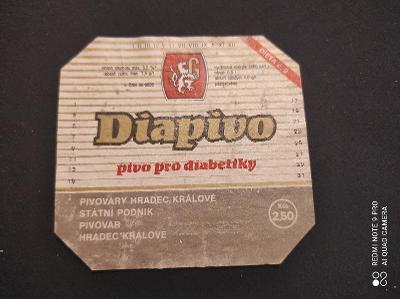 Diapivo pivovary Hradec Králové etiketa