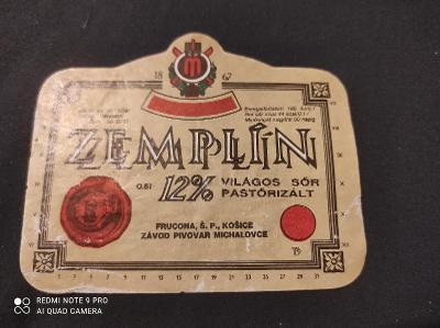 Zeplín pivní etiketa