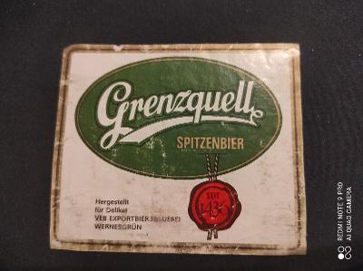 Grenzquell Pivní etiketa