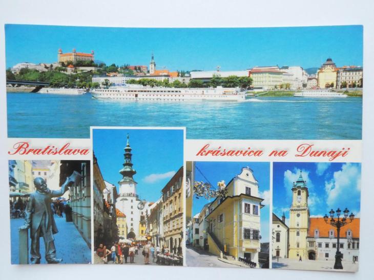 Bratislava krásavica na Dunaji  - Pohlednice