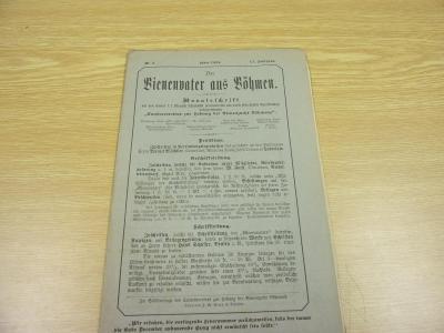 Starý časopis VČELAŘSTVÍ, VČELÍ OTEC ČECHY z roku 1894