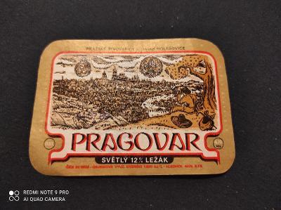 Pragovar pivní etiketa