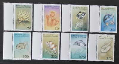 Komory 1999 Mi.1532-9 8,5€ Mořská fauna, ryby a korály