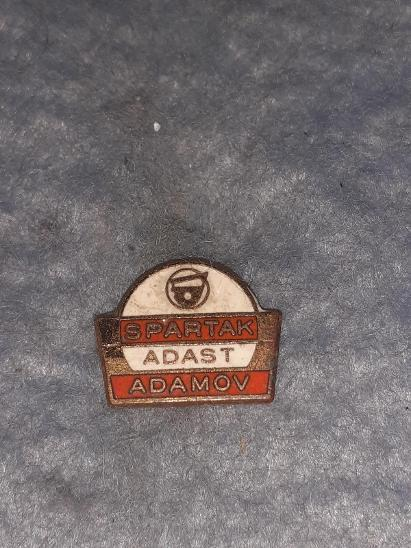 odznak Spartak Adast Adamov  - Faleristika