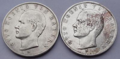 3 Marky OTTO BAYERN 1909 - 2 ks