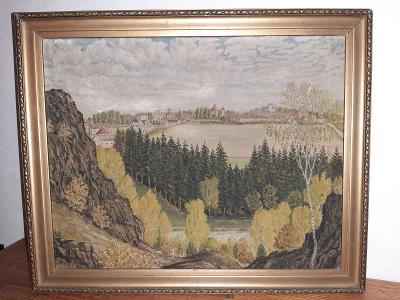 Soubor tří obrazů - Pavelka, Veselý a Kubala
