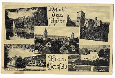 Pohlednice, Bad Hersfeld, Německo, feldpost MF, 20/43
