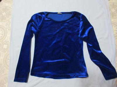 triko modré samet