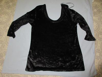 triko černé samet