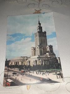 Pohlednice z roku 1964 Varšava, prošlé poštou.