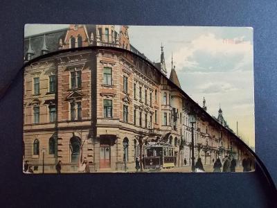 Opava Troppau Olomoucká ulice lakovka  tramvaj