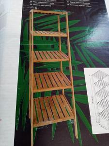 Regál z bambusu 140 cm (557092) _E701