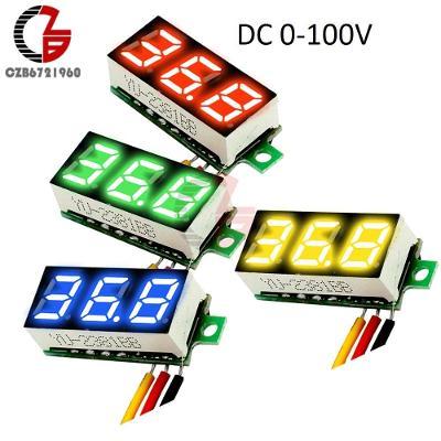 """Digitální voltmetr DC 0-100V modrý LED 0.36 """""""