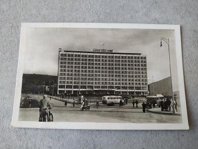 Pohled Starý pohled Pohlednice Sbírka Místopis Zlín Baťa Autobus