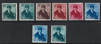 RUMUNSKO 1940 Mi. 617 - 624 /**