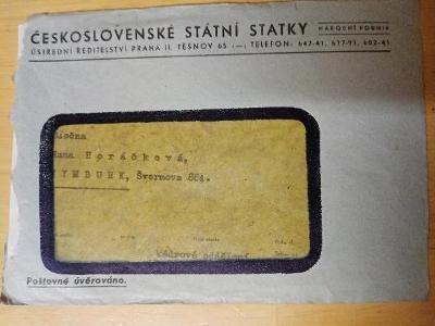 Archiválie Českosl. státní statky Praha  40. léta...