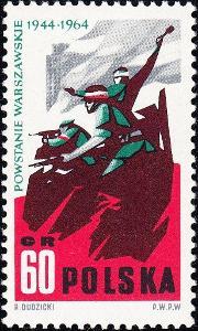 Polsko 1964 Známky Mi 1513 ** Druhá světová válka Varšavské povstání