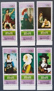 Jemen YAR Olympijské hry 1968 Mexico, série 6ks známek