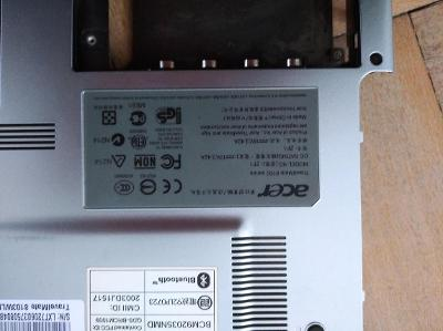 Spodní šaší Acer travelmate 8100