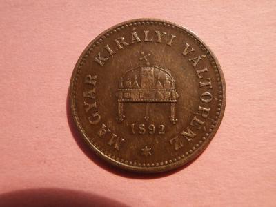 1 Filér 1892 KB , SBÍRKOVÝ  STAV !!!  VELMI VZÁCNÝ !!!