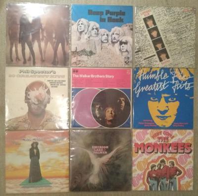 9 x LP rock (Deep Purple, Humble Pie, Beatles, EM&P, Monkees, Alien)