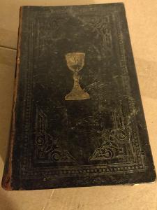 STAROŽITNÁ KNIHA BIBLE MODLITEBNÍ KOŽENÁ VAZBA 1896