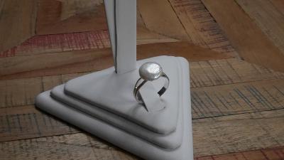 Prstýnek s jihomořskou coin perlou, hand made