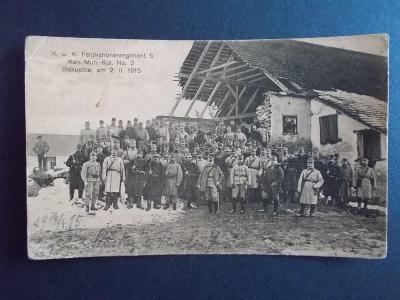 Armáda I.světová válka voják dělostřelci kanonýr regiment Biskupice