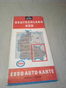 Retro automapa deutchland Německo, 1:500000