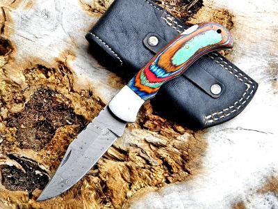 22/ Damaškový lovecky nůž. Rucni vyroba. ZAVIRACI.
