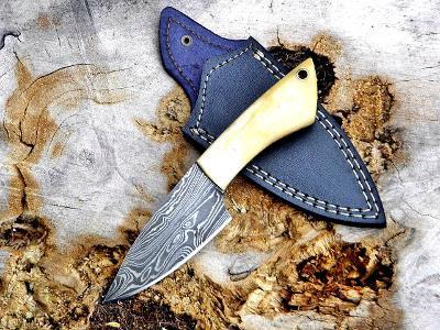 24/ Damaškový lovecky nůž. Rucni vyroba.