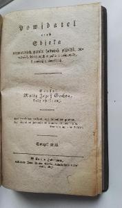 vzácná Česka kniha z roku 1817 / Powjdatel / Matěj Josef Sychra !!!