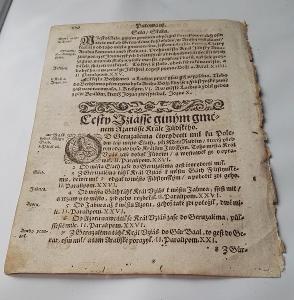 list z roku 1610 v češtině/ 410 let stare!!! O Král v Jeruzalém