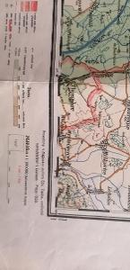 Mapa Přerovska 1938