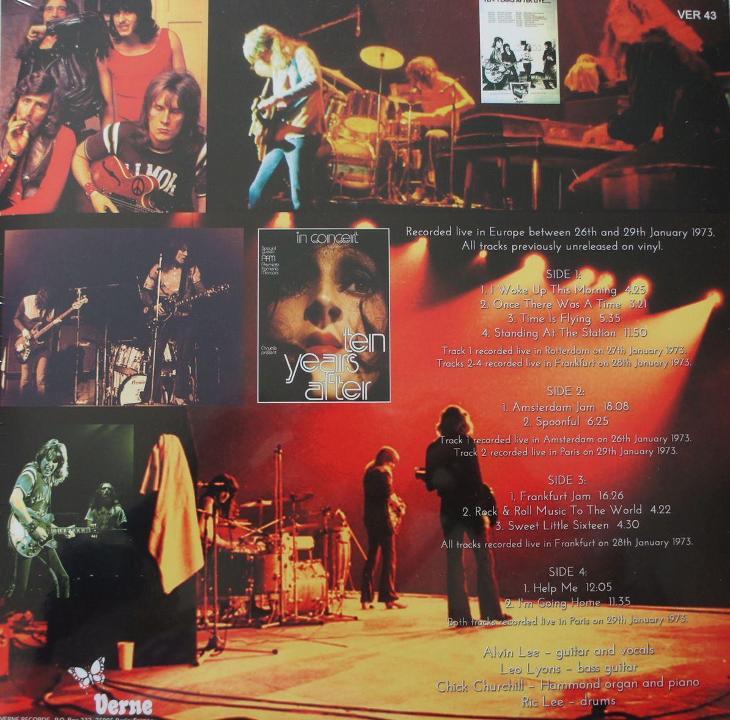 2 LP TEN YEARS AFTER Tour 1973 Raritní ! - Hudba