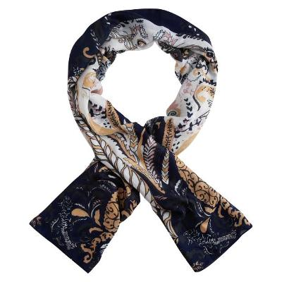 Dlouhý šátek Paisley MODRÁ