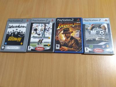 Hry na PS2 Indiana Jones , Getaway, Tennis , Football