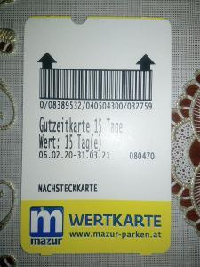 Parkovací karta Wien Mazur