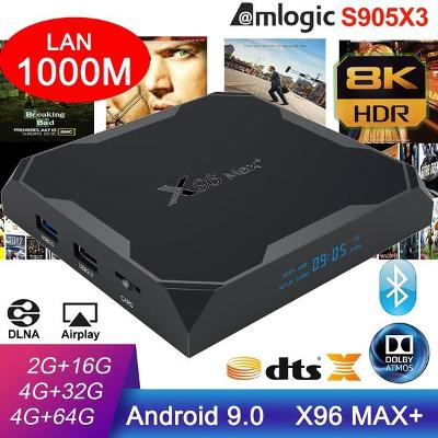 4K TV BOX X96 MAX+ 4GB/32GB S905x3 Android 9.0 DTS Atmos Vision HDR