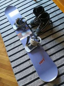 Snowboard+vázání+boty