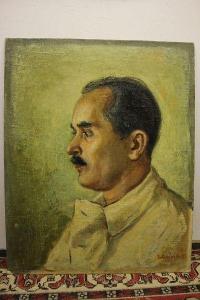 obraz-portrét muže sign.