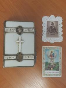 Modlitební knížka, Albach - a posvátní Zvukové, 1874, svaté obrázky