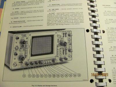 Servismanuál a návod pro osciloskop Tektronix 464