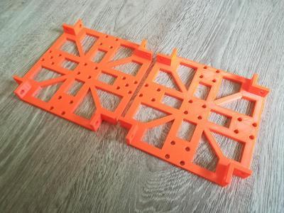 3D tištěné díly, výtisk, oranžová, PLA