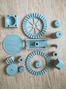 3D tištěné díly, výtisk, šedá PLA