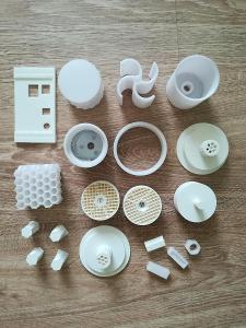3D tištěné díly, výtisky, PLA bílá
