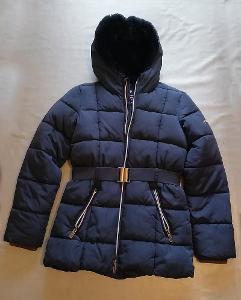 Dívčí bunda/kabát vel. 152 + čepice