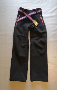 Kalhoty dívčí zimní softshell s páskem, vel 134
