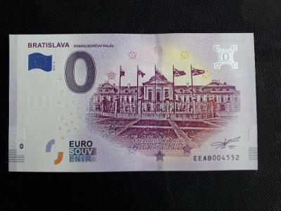 0 EUR BANKOVKA , sr , 2019 GRASALKOVIĆOV PALÁC